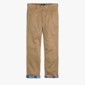 J.Crew Sutton Straight Fit Flannel-Lined Chino
